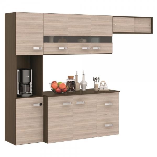 8689003830 1 G Cozinha Poquema Luana com 9 Portas e 2 Gavet