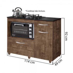 8699413128 693 G Balco Cozinha para Cooktop 4 Bocas com 2 Por201