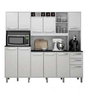 9070288274 armario de cozinha 11 portas 2 gavetas petra valdemoveis branco brilho 13364334