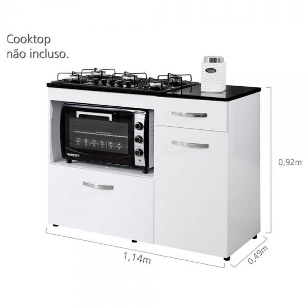 8699725954 688 G Balco Cozinha para Cooktop 5 Bocas com 2 Por