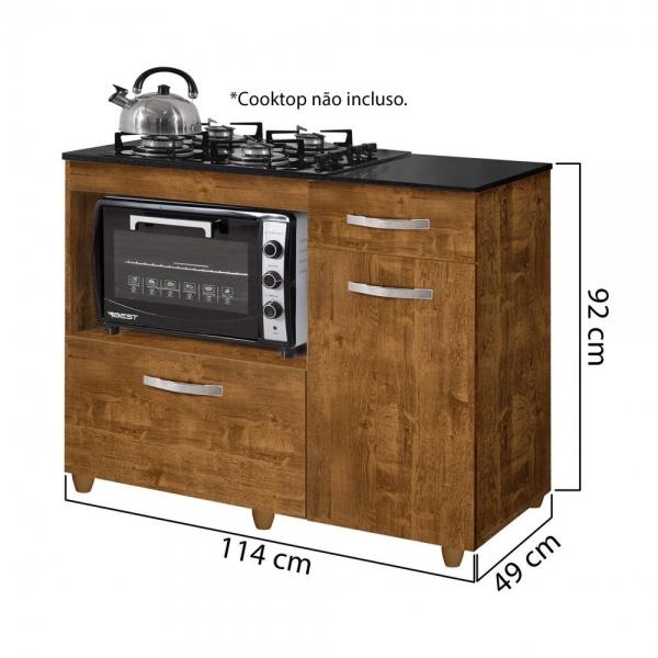 9285399555 8699425336 692 G Balco Cozinha para Cooktop 4 Bocas com 2 Por201