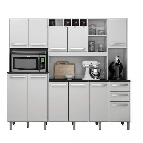 9340109684 9070288274 armario de cozinha 11 portas 2 gavetas petra valdemoveis branco brilho 13364334